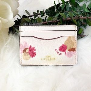 Coach | Slim Watercolor Floral Card Case